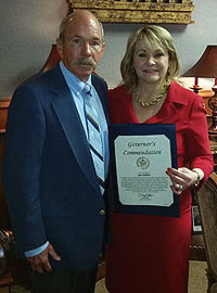 Jim Dillon and Governor Mary Fallin